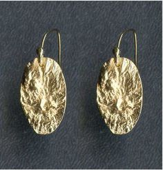 Reticulated Oval Earring. $56.00, via Etsy.