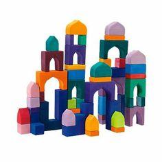 1001 Nights Wooden Block Set Handmade in Germany, 54 Pieces
