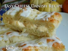 Easy Cheese Danish Recipe  Ingredients:  1 (8 oz) package of cream cheese, softened  1/2 cup white sugar  1 teaspoon vanilla extract  3 tablespoons all-purpose flour  1 tube of crescent rolls (original flavor)  1/2 cup vanilla frosting (I used Betty Crocker), for the icing on the cheese danish