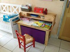 Chaise:construction avec du bois de palette . fait maison en bois