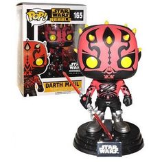 Funko Darth Maul 165, Smuggler's Bounty Exclusive, Star Wars, Guerra nas Estrelas, Rebels, Funkomania, Cartoon