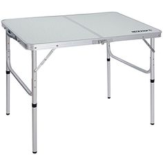 Best Seller REDCAMP Aluminum Folding Table 3 Foot, Adjustable Height Lightweight Portable Camping Table Picnic Beach Outdoor Indoor, White 36 x 24 inch online - Toplikestore Lightweight Folding Table, Aluminum Folding Table, Folding Camping Table, Portable Camp Kitchen, Portable Table, Bbq Table, Patio Table, Picnic Table, Chairs