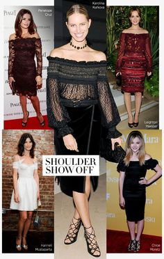 c79e44074f Off the shoulder dresses. Which version would have you brushing your  shoulders off