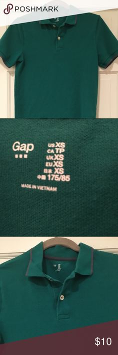 Gap polo shirt. Men's XS EUC green with grey trim. More colors in my closet. Bundle and save. GAP Shirts Polos