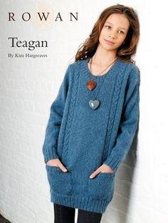 Free pattern - long  line jumper with pockets
