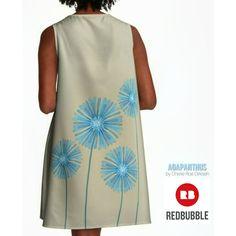 Art by Cherie Roe Dirksen.  #agapanthus #dresses #fashion #cherieroedirksenart