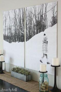 Bold Split-Photo Wall Decor bold split photo wall decor, crafts, home decor