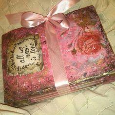 Wedding vibtage fairy tale photo album or guest book