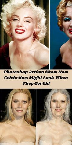Getting old is a nightmare for many people. There is a useless and often pathetic fight for eternal youth. #Photoshop #Artists #Celebrities