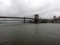 The Brooklyn Bridge as seen from Pier 17 at the South Street Seaport