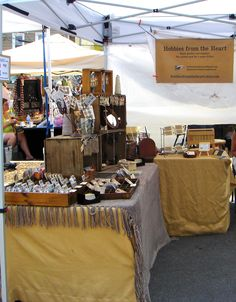 Craft Fair Booth Display #makermarket Outdoor show set up Shared tent; rustic