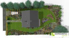 Projekt ogrodu o naturalistycznym charakterze powstał z myślą o osobach lubiących barwy  i ceniących  funkcjonalność. Kompozycja została oparta na miękkich falistych liniach. Zakwitające kolejno gatunki  od czerwca do października ożywiają przestrzeń wokół domu i dodają jej uroku. http://www.zaprojektuj-ogrod.pl/pl/OrderGardenProject/Index