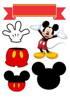 Cupcakes Mickey, Bolo Mickey E Minnie, Mickey Birthday Cakes, Theme Mickey, Mickey Party, Elmo Party, Minion Birthday, Baby Boy 1st Birthday, Bolo Mickey Safari