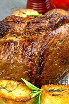 Air fryer roasts cook about faster than a conventional oven. Try this next time you make roast beef and always be sure to use a tender cut. Air Fryer Recipes Chicken Wings, Air Fryer Recipes Pork, Air Frier Recipes, Top Round Roast Recipe, Rib Roast Recipe, Beef Shoulder Roast, Perfect Roast Beef, Pork Sirloin Roast, Chuck Roast Recipes
