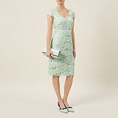 New Jacques Vert dress 16 18 Green Lace tiered scallop Mock Wrap beaded rp Dresses For Sale, Dresses Online, Dresses For Work, Formal Dresses, Feminine Dress, Green Lace, Buy Dress, Bodycon Dress, Outfits
