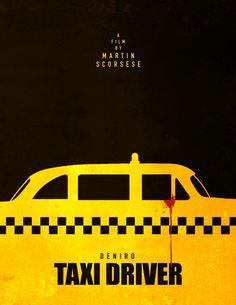 Taxi Driver (1976) ~ Minimal Movie Poster by Henry Alvarez