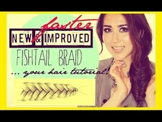 Uber-fast way to fishtail braid tutorial | 5 Minute Hairstyles