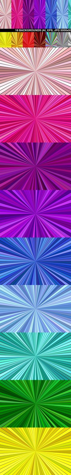16 Burst Backgrounds #CheapVectorGraphics #burst #psychedelic #rays #BackgroundSet #BackgroundDesign #BackgroundCollections #background #BackgroundSets #DiscountBackground #abstract #abstractbackground #PremiumVectorGraphics #sunburst #PremiumBackgrounds #abstract #CheapVectorBackgrounds #sale #BackgroundSet