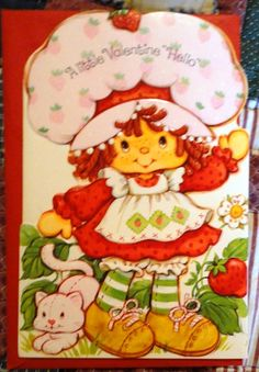Vintage American Greetings Large Strawberry Shortcake Valentine's Day Card, Collectibles :: Paper Collectibles :: Bullszi.com