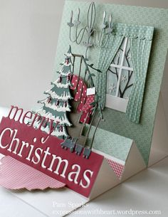 Christmas Card, Stepper Card - All essential products for this project can be found on Crafting.co.uk - for all your crafting needs.