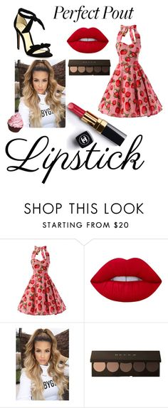"""""""Strawberry Cupcake"""" by dana-einck on Polyvore featuring beauty, Lime Crime, Chanel and Alexandre Birman"""