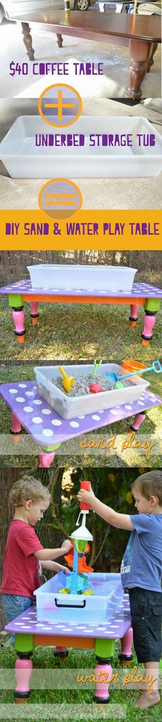 Summer holiday special - DIY Sand and Water Play Table. This is so simple and cheap to make, and we've been using ours every day!