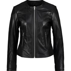 """Altered Image "" Black Leather Woven Jacket - TK Maxx"