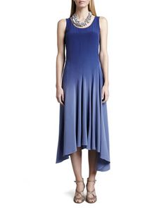 Ombre Silk Long Dress, Sapphire by Eileen Fisher at Neiman Marcus.