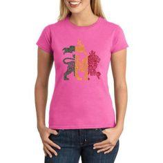 Los Angeles Pop Art Juniors Animals Word Art Graphic Tee, Size: Small, Pink