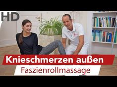 Knieschmerzen an der Aussenseite Aussenband Aussenmeniskus // Übungen Faszienrolle