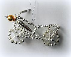 Vánoční+ozdoba+z+foukaných+perel+Motorka+velká+-+10+cm