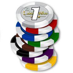 Cuando en un casino se hace una apuesta con un montón de fichas, se deben colocar las fichas de mayor valor abajo y las de mejos valor arriba. Los colores de las fichas de menor valor tienen colores claros, los colores oscuros son para las fichas de más valor.