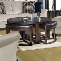 Jackson Furniture Coffee Table with Stools | Wayfair