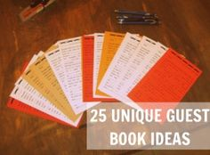 25 Unique Guest Book Ideas (the source links are highlighted in the post...)