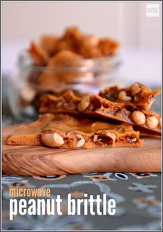 This Microwave Peanut Brittle Recipe is quick easy and can be made in the microwave. Yep just like a college student in the dorm. Microwave Peanut Brittle, Peanut Brittle Recipe, Brittle Recipes, Nut Recipes, Easy Recipes, Peanut Butter Dessert Recipes, Healthy Dessert Recipes, Easy Desserts, Delicious Desserts
