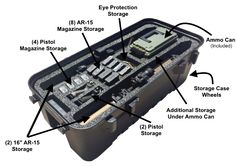 Tactical To Go has developed a great hard case for use by weekend sport shooters, gun enthusiasts and preppers. Our tactical case, with patent pending foam interior, allows you to transport and store your guns and gear in a secure, portable and afforda Ammo Storage, Hidden Gun Storage, Weapon Storage, Truck Storage, Ammo Cans, Tac Gear, Nail Gun, Gun Cases, Military Guns