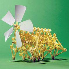 Gorąca sprzedaż diy robota wiatr powered zwiedzanie walker mini strandbeest montaż modelu robota dzieci zabawki dla dzieci