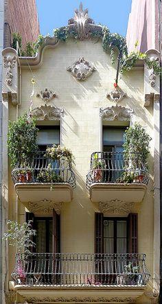 Barcelona - Prunera 011 a by Arnim Schulz Art Nouveau Architecture, Beautiful Architecture, Beautiful Buildings, Art And Architecture, Architecture Details, Beautiful Homes, Beautiful Places, Belle Villa, Through The Window