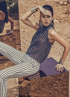 Dots y rayas para un look arriesgado   BLUSA- S207554 JEANS- S131230 #StudioFMexico   #FashionNight