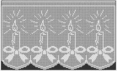 Filet Crochet, Knit Crochet, Baby Knitting Patterns, Crochet Patterns, All Things Christmas, Christmas Crafts, Crochet Curtains, Crochet Designs, Needlework