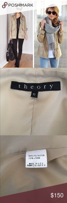 Theory Utility Jacket! Re-list! EUC- great for fall and layering. Theory Jackets & Coats Utility Jackets