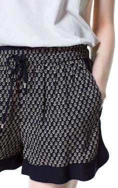 SHORTS ESTAMPADO ETNICO - Shorts - Mujer | ZARA España