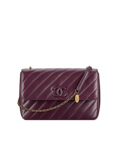 Lambskin flap bag with a leather... - CHANEL