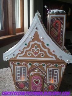 Christy's Crafty Corner: Stash Smashing Gingerbread House!