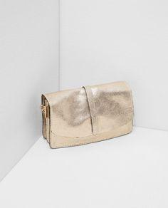 LEATHER HANDBAG from Zara \\ Metallic
