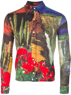 WALTER VAN BEIRENDONCK VINTAGE Nature print shirt