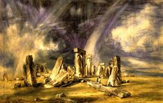 Stonehenge. The English Romantic painter John Constable was born on this day in 1776. Famed for his landscape paintings, Constable was honoured with a Blue Plaque in 1923:
