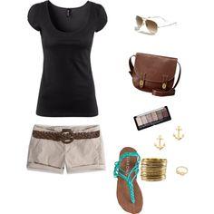 simple beach attire