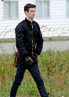 Grant Gustin on set of DC's Legends of Tomorrow.