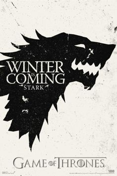 Game of Thrones - Winter is Coming - House Stark Poster #tvseries #gameofthrones